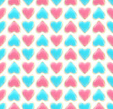 Seamless background texture made of love hearts Royalty Free Stock Images
