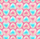 Seamless background texture made of love hearts Royalty Free Stock Photos