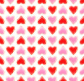 Seamless background texture made of love hearts. Seamless background texture made of bright glossy love hearts Stock Illustration