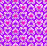 Seamless background texture made of love hearts Stock Photo