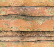 Roof old Tiles Background (seamless) Royalty Free Stock Photos