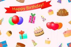 Seamless background on a theme birthday. Royalty Free Stock Image