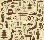 Seamless background on a theme of Japan Royalty Free Stock Images