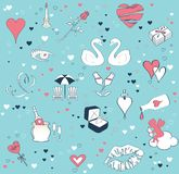 Seamless background with the theme of love Stock Photos