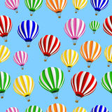 Seamless background with thermal balloons Royalty Free Stock Photography