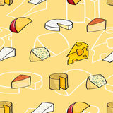 Cartoon Cheese Seamless Background Royalty Free Stock Image