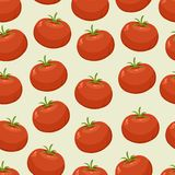 Seamless background with tomatoes Stock Photo