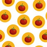 Seamless background with tomatos Royalty Free Stock Images