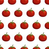 Seamless background with tomatos Royalty Free Stock Image