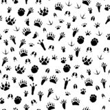 Seamless background traces of animals and birds royalty free illustration