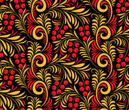 Seamless background of traditional Russian folk painting. Stock Images