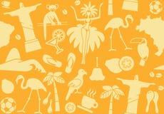 Seamless background on a theme of Brazil Royalty Free Stock Photo
