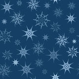 Seamless background with transparent gossamer blue stars.  Stock Images