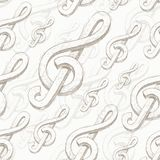 Seamless background with treble clef Stock Image