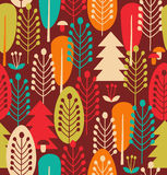 Seamless background with trees Royalty Free Stock Images
