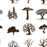 Seamless background trees Stock Photos