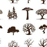 Seamless background trees Stock Photos