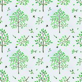 Seamless background with trees Royalty Free Stock Image