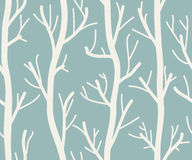 Seamless background with trees. On white . Vector illustration Stock Photo