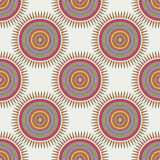 Seamless background with tribal style circles. Stock Photos