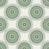 Seamless background with tribal style circles. Royalty Free Stock Image