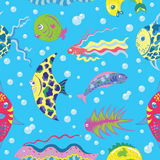 Seamless background with tropical fish Royalty Free Stock Photography