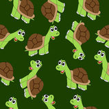 Seamless background with turtles Stock Photography
