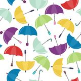 seamless background with umbrellas Stock Photos