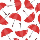 Seamless background with umbrellas Stock Image