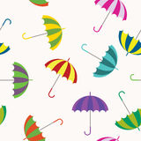 Seamless background with umbrellas Royalty Free Stock Images