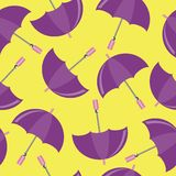 Seamless background with umbrellas Royalty Free Stock Image