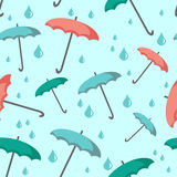 Seamless background with umbrellas Stock Photography