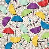 Seamless background with umbrellas. On lace illustration stock illustration