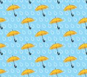 Seamless background with umbrellas. Royalty Free Stock Image