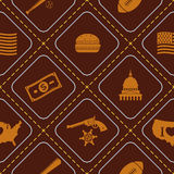 Seamless background with usa icons Royalty Free Stock Photo