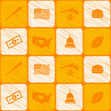 Seamless background with usa icons Royalty Free Stock Images