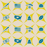 Seamless background with usa icons Stock Photos