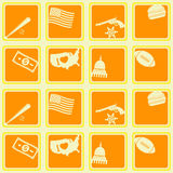 Seamless background with usa icons Royalty Free Stock Photography