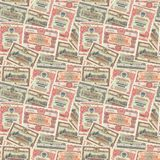 Seamless background of USSR bonds Royalty Free Stock Photo