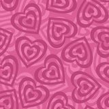 Seamless background, Valentine hearts Royalty Free Stock Images