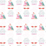 Seamless background for Valentine's day. Wrapping paper. Color.  Royalty Free Stock Photo