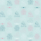 Seamless background for Valentine's day. Wrapping paper.  Stock Photo