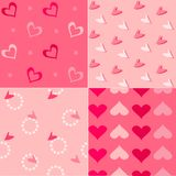 Seamless background for Valentines day Royalty Free Stock Photos