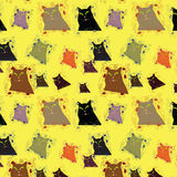 Seamless background with varicoloured cats Royalty Free Stock Photos