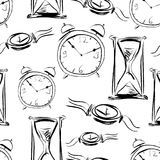 Pattern of the different watches Royalty Free Stock Image