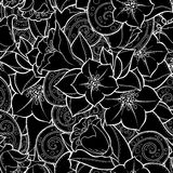 Seamless background in vector with doodles, flowers and paisley. Stock Image