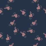 Seamless background with vector hearts Royalty Free Stock Image