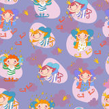 Seamless background vector illustration girls Royalty Free Stock Images