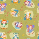 Seamless background vector illustration girls Royalty Free Stock Photo