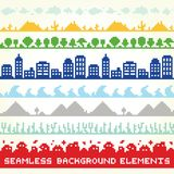 Seamless background vector location elements Royalty Free Stock Images